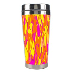 Pink and yellow pattern Stainless Steel Travel Tumblers