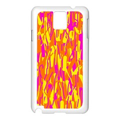 Pink and yellow pattern Samsung Galaxy Note 3 N9005 Case (White)