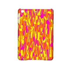 Pink and yellow pattern iPad Mini 2 Hardshell Cases