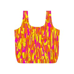 Pink and yellow pattern Full Print Recycle Bags (S)