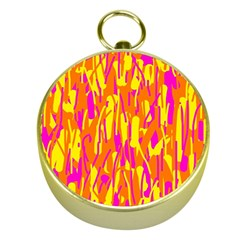 Pink and yellow pattern Gold Compasses