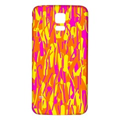 Pink and yellow pattern Samsung Galaxy S5 Back Case (White)