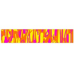 Pink and yellow pattern Flano Scarf (Large)