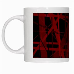 Black and red pattern White Mugs