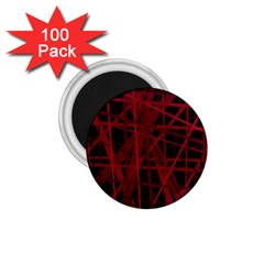 Black and red pattern 1.75  Magnets (100 pack)
