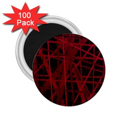 Black and red pattern 2.25  Magnets (100 pack)