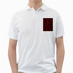 Black and red pattern Golf Shirts