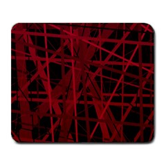 Black and red pattern Large Mousepads