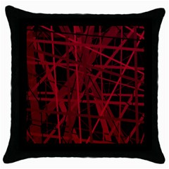 Black and red pattern Throw Pillow Case (Black)