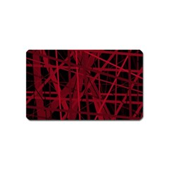 Black and red pattern Magnet (Name Card)