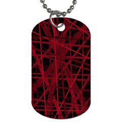 Black and red pattern Dog Tag (One Side)