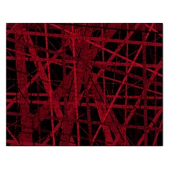 Black and red pattern Rectangular Jigsaw Puzzl