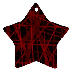 Black and red pattern Star Ornament (Two Sides)