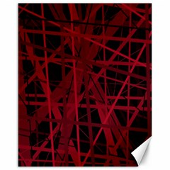 Black and red pattern Canvas 16  x 20