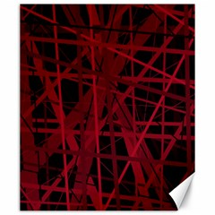 Black and red pattern Canvas 20  x 24