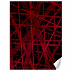 Black and red pattern Canvas 36  x 48