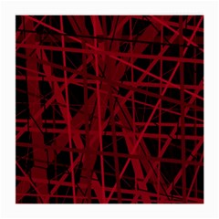 Black and red pattern Medium Glasses Cloth (2-Side)