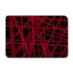 Black and red pattern Small Doormat