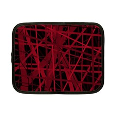 Black and red pattern Netbook Case (Small)