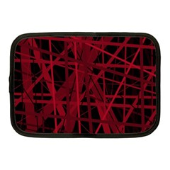 Black and red pattern Netbook Case (Medium)
