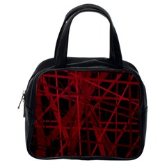 Black and red pattern Classic Handbags (One Side)
