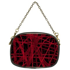 Black and red pattern Chain Purses (Two Sides)