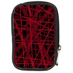 Black and red pattern Compact Camera Cases