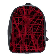 Black and red pattern School Bags(Large)
