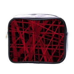 Black and red pattern Mini Toiletries Bags