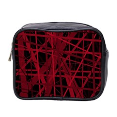 Black and red pattern Mini Toiletries Bag 2-Side
