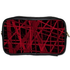 Black and red pattern Toiletries Bags