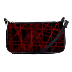 Black and red pattern Shoulder Clutch Bags
