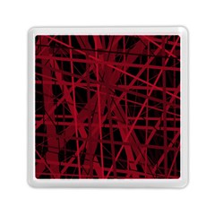 Black and red pattern Memory Card Reader (Square)