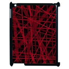 Black and red pattern Apple iPad 2 Case (Black)