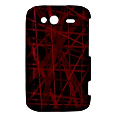 Black and red pattern HTC Wildfire S A510e Hardshell Case