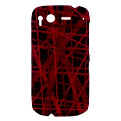 Black and red pattern HTC Desire S Hardshell Case
