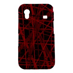 Black and red pattern Samsung Galaxy Ace S5830 Hardshell Case