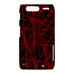 Black and red pattern Motorola Droid Razr XT912