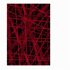 Black and red pattern Large Garden Flag (Two Sides)