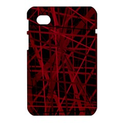 Black and red pattern Samsung Galaxy Tab 7  P1000 Hardshell Case