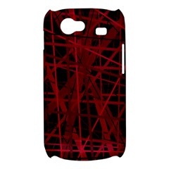 Black and red pattern Samsung Galaxy Nexus S i9020 Hardshell Case