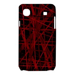 Black and red pattern Samsung Galaxy SL i9003 Hardshell Case