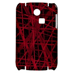 Black and red pattern Samsung S3350 Hardshell Case