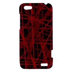 Black and red pattern HTC One V Hardshell Case