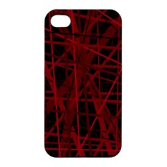 Black and red pattern Apple iPhone 4/4S Premium Hardshell Case
