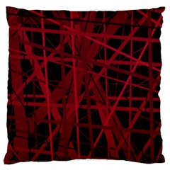 Black and red pattern Large Cushion Case (One Side)