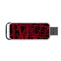 Black and red pattern Portable USB Flash (Two Sides)