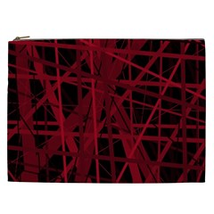 Black and red pattern Cosmetic Bag (XXL)