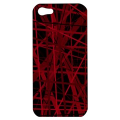 Black and red pattern Apple iPhone 5 Hardshell Case