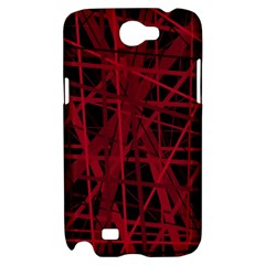 Black and red pattern Samsung Galaxy Note 2 Hardshell Case